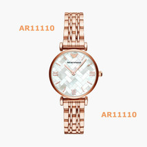 New Emporio Armani Gianni T-Bar Rose-Gold Tone Women's Watch AR11110 - $168.29