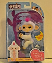 Fingerlings Interactive Baby Monkey Sophie White Pink Hair WowWee 2017 NEW - $23.99