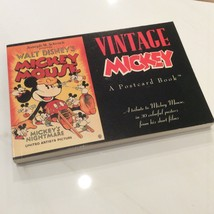 Walt Disney Vintage Mickey Postcard Book Collectible ISBN1-56138-053-9 - $30.00