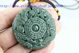 Free Shipping -  Couple jade pendants , green jadeite jade , Hand- carve... - $16.99