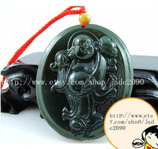 Free Shipping - gift ideas Tibet Buddhist Real 100% Natural Green  jadeite jade  - $19.99