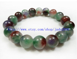Free Shipping - 100% Nice Natural Colorful Jadeite Jade charm beaded jad... - $16.99