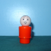 RARE VTG. FISHER PRICE LITTLE PEOPLE RED- ORANG... - $15.00