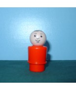 RARE VTG. FISHER PRICE LITTLE PEOPLE RED- ORANGE BODIED DAD  - $15.00