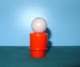 RARE VTG. FISHER PRICE LITTLE PEOPLE RED- ORANGE BODIED DAD  image 2
