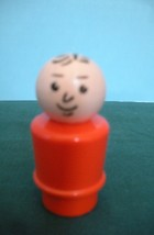 RARE VTG. FISHER PRICE LITTLE PEOPLE RED- ORANGE BODIED DAD  image 3