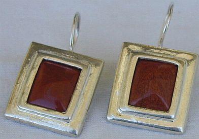 Blood stones earring D