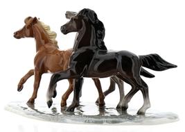 Hagen-Renaker Specialties Ceramic Horse Figurine Wild Mustangs on Base image 8