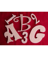 """8 """" Unfinished Wood Letters-Wall Letters or Numbers - $4.75"""