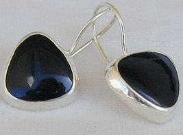 Black hearts earrings - $24.00