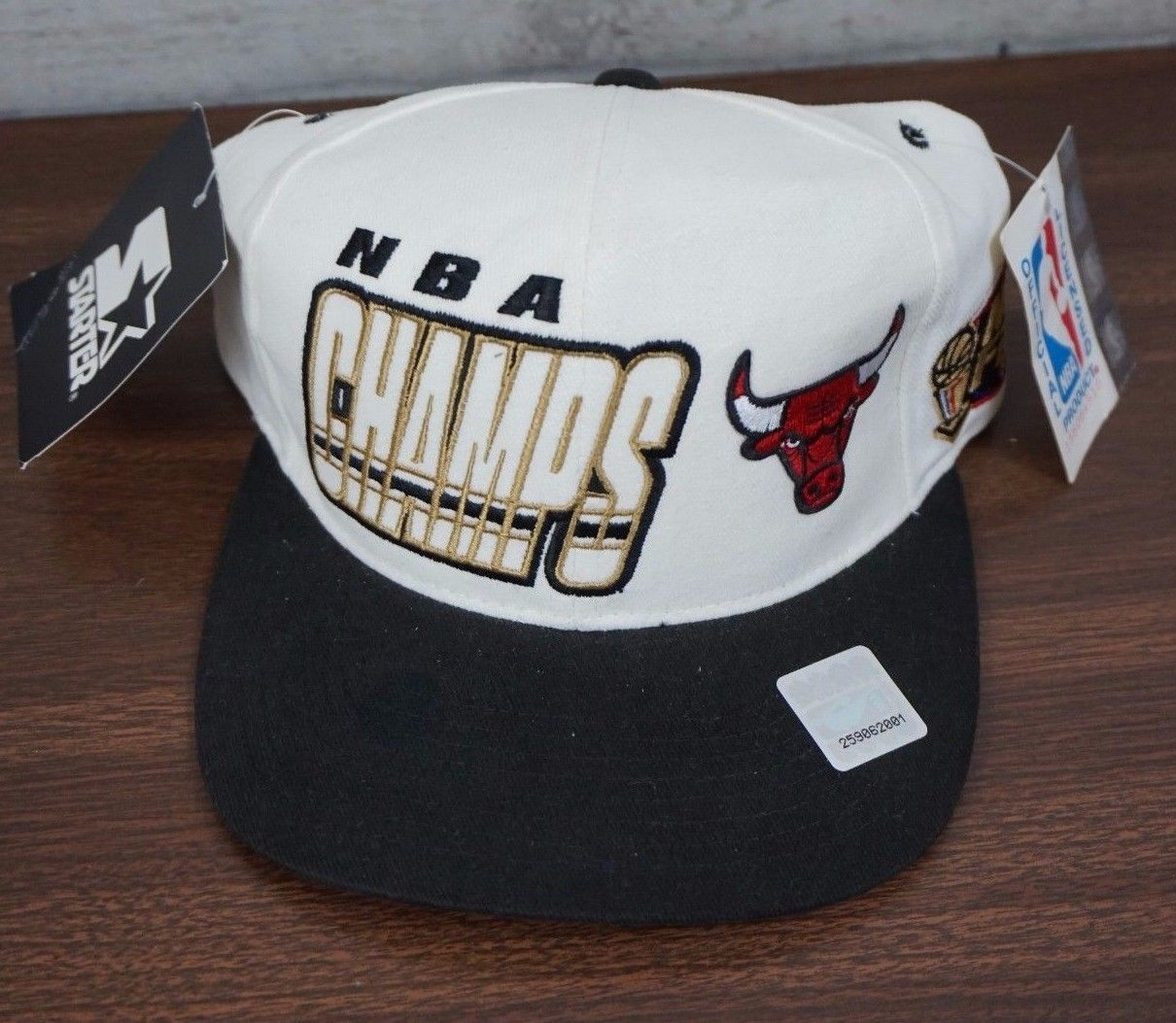 Chicago Bulls 1997 NBA Champs Champions Championship starter snapback hat cap