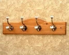 Wall Hook Coat Rack Nickel Double Hangers  - $39.95