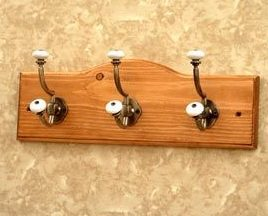 Wall Hook Coat Rack Nickel Double Hangers