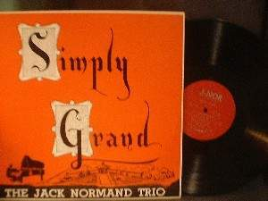 "Jack Normand Trio - Simply Grand - 12"" LP"