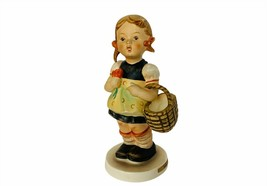 Goebel Hummel figurine Sister 98 Germany 1962 girl basket flower vtg scu... - $29.65