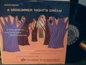 George Szell - A Midsummer Night's Dream Op. 21 & 61-LP - Columbia ML 4498
