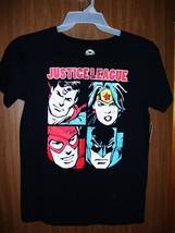 New Women's Juniors Dc Comics Justice League Characters T-SHIRT Sz Small Black - $9.26