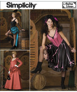 Simplicity 2851 Western Dance Hall Saloon Girl Costume Pattern 14-20 - $9.95