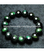 Free shipping - A+++ Top quality  green eyes obsidian charm  bracelet ch... - $29.99