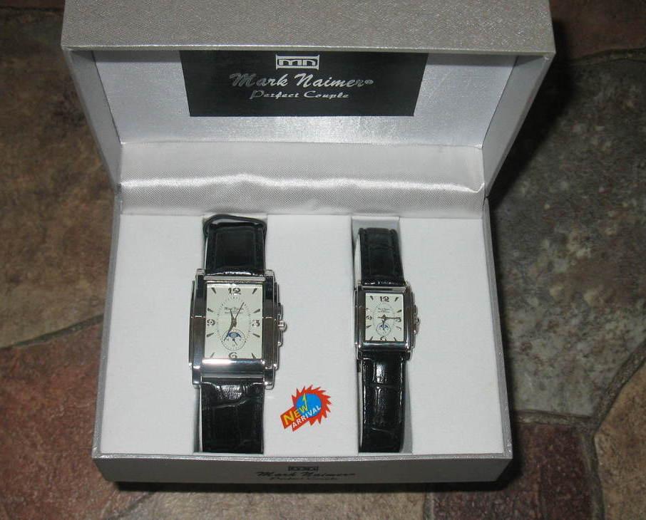 Watches Set Men Women Mark Naimer New Black Straps