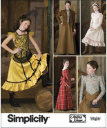 Simplicity 2843 Girl's Saloon Dance Hall Frontier Costume Pattern 7-14 - $9.95