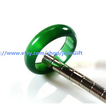FREE SHIPPING - jade ring Natural green jadeite jade charm Ring ,  jadeite jade  - $19.99