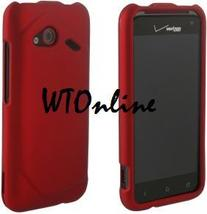 HTC ADR6410 INCREDIBLE 4G LTE RED RUBBERIZED SNAP HARD CASE - $7.99