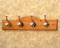 Wall Hook Coat Rack Nickel Double Hangers
