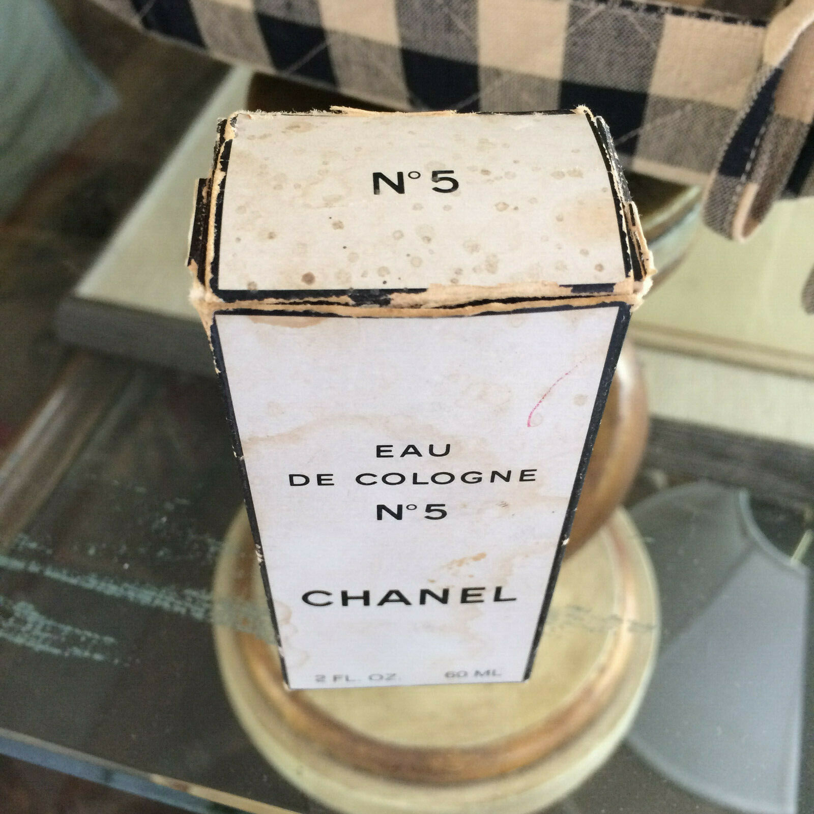 Vintage mid-century!! CHANEL No 5 Perfume 2 oz - OLD FORMULA FRANCE New NIP image 8