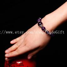 Free shipping -  AAA NATURAL Amethyst Meditation Yoga Prayer Beads Mala rosary b - $32.99