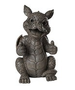 Garden Dragon Thumbs Up Display Decorative Accent Sculpture Figure Stone... - $39.99