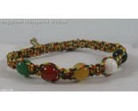 Multi color cord and stone bead bracelet 1 thumb155 crop
