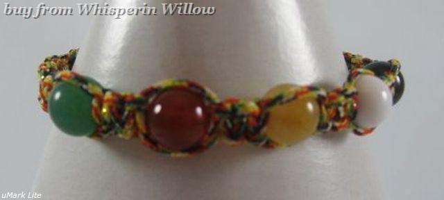 Multi Colored Macrame Multistone Bracelet