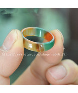 Free Shipping -    green red yellow three colour jade . charm jade ring ... - $8.88