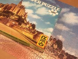 Vintage F.X. Schmid Super Puzzle 1000 - No. 98243 Mont St. Michel image 6