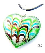 Heart Glass Lampwork Multi Color Necklace - $9.95