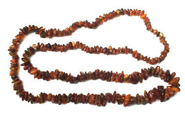 "Beautiful Vintage Real 32"" Raw Rustic Amber Stones Necklace - $27.50"