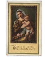 Xmas Whitney postcard Mary Jesus 1919 Red Cross seal stamp Christian rel... - $9.00