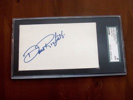 DAVE RIGHETTI 1981 ROY NO-HITTER YANKEES GIANTS SIGNED AUTO INDEX CARD SGC - $29.69