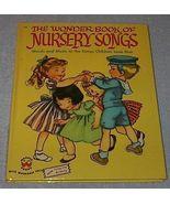 Vintage Children's Old Wonder Book of Nursery Songs 1954 - $6.95