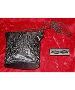 Vintage Black Purse Handbag Evening Bag Lipstick Holder - $28.00