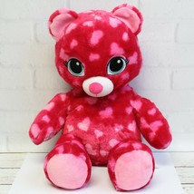 Build A Bear BABW Red Pink Sweet Hugs Hearts Teddy Bear Plush Stuffed An... - $17.99