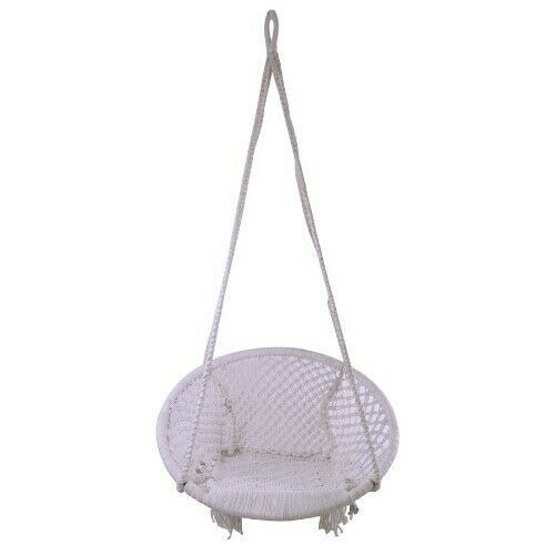 Hanging Rope Chair Swing Seat Bohemian Bedroom Porch Yard Garden Tree Camping