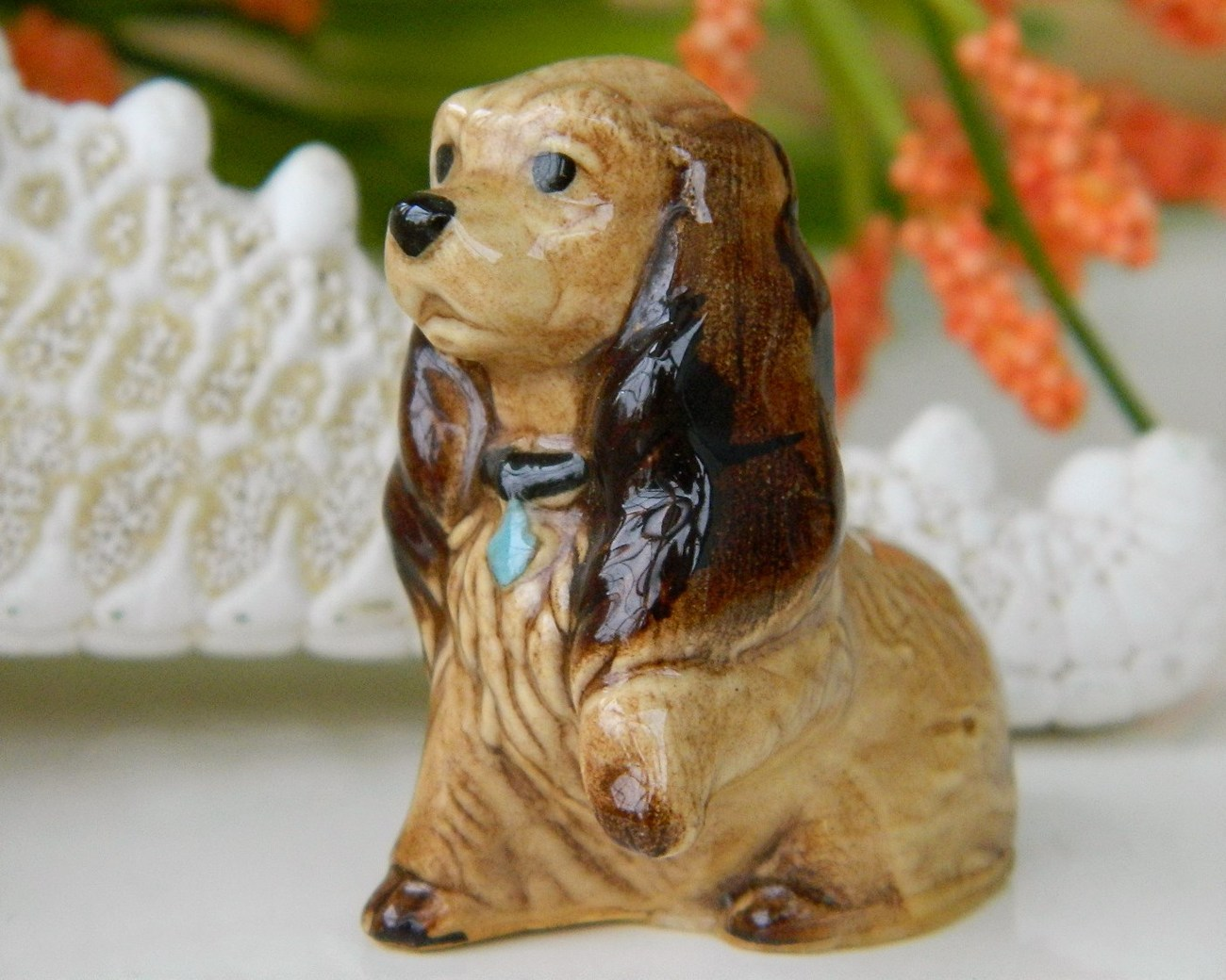 Hagen Renaker Miniature Mama Cocker Spaniel Figurine Vintage