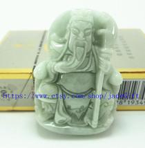 "Free Shipping - good luck Natural dark green jadeite jade luck ""Guan Yu"" charm a - $26.99"