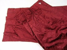 JCPenney Floral Damask Wine 6-PC Pinch-Pleat Drapery Panels and Tapered ... - $148.00