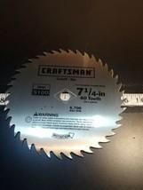 """Vintage Craftsman 7-1/4"""" 40 Tooth Saw Blade Steel S100 NEW!! UNUSED!!! (Bin92) - $24.19"""