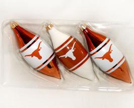 Texas Longhorn Collegiate Logo Glass Christmas Ornaments - $16.95