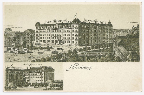 1913 - Wurttemberger Hall, Nuremberg, Germany - Unused