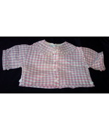 1940s/50s Gingham Infant Baby Blouse Shirt Vintage - $8.95